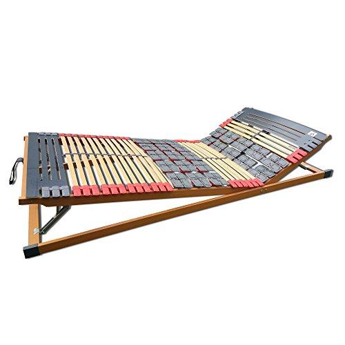 FMP Matratzenmanufaktur 7 Zonen Teller-Leisten Lattenrost Rhodos Komfort KF verstellbar 140 x 200 cm
