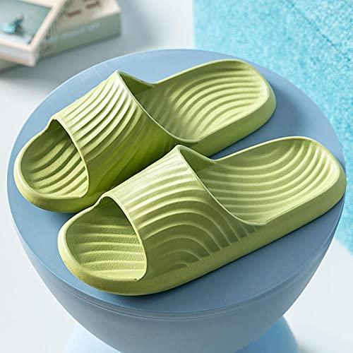 ZZLHHD Chanclas de Playa para niño niña,Household Bathroom Slippers, Wearing Massage Slippers,-Green_38-39,Zapatillas de Ducha Interior