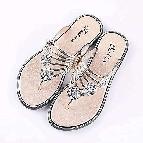 Zapatillas Casa Chanclas Sandalias Zapatillas De Mujer, Zapatos Lindos Rosas, Chanclas Planas Cómodas Informales para Mujer