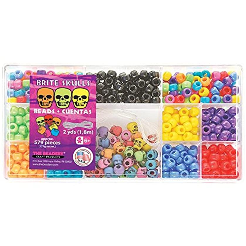 Beadery B6470 Bead Box Kit, 6.25-Ounce, Brite Skulls