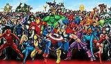 Yidyin Rompecabezas Puzzles de 1000 Piezas, Póster de la Serie Avengers, Juguete Educativo,Regalos Originales para Juguetes Cumpleaños Puzzle Adolescentes