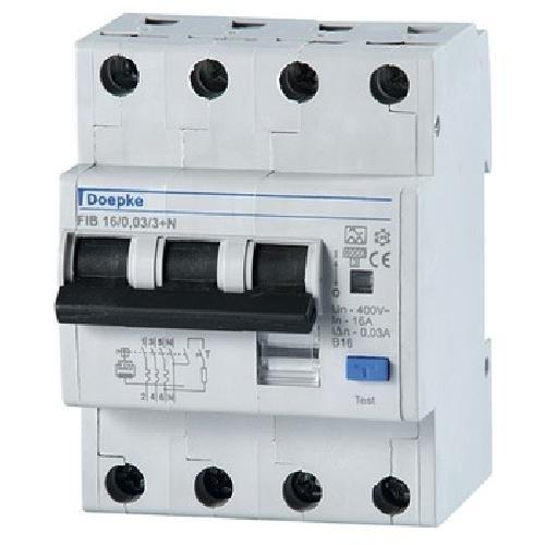 Doepke FI/LS-Kombination FIB 16/0,03/3+N-A Kombination FI-Schalter/Leitungsschutzschalter 4014712148970