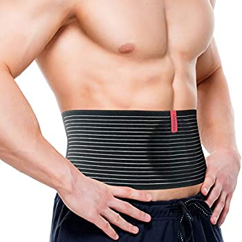 ORTONYX Umbilical Hernia Belt for Men and Women - Abdominal Support Binder with Compression Pad - Navel Ventral Epigastric Incisional and Belly Button Hernias Surgery Prevention Aid  Large-XXL
