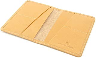 Camel leather passport cover. Men's travel wallet, women's passport wallet. Wallet for passport, cards, cash and boarding pass. Made in USA by Made In Mayhem