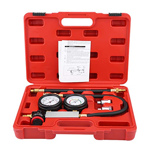 Save %5 Now! TU-21 Cylinder Leakage Leakdown Detector Set with Double Gauges Leak Tester Kit Petrol ...