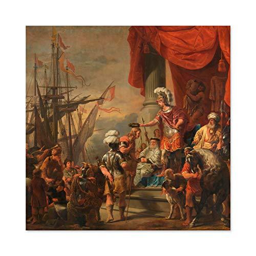 Bol Aeneas Op Het Hof Van Latinus Grote Muur Kunst Poster Print Dikke Papier 24X24 Inch
