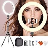 SAMTIAN 18 Inches LED Ring Light Kit 55W 3200K 5500K Dimmable SMD YouTube Light Ring with 2M Light Stand, Cradle Head, Phone Holder for Video Shooting, YouTube Video, Portraiture, Makeup, Vlog