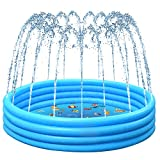 Sinceroduct Sprinkler & Swimming Pool for Kids - Combination of Inflatable Swimming Pool & Sprinkler & Ball Pit with 25% Thickened Material, Toy Pool for Learning, Gift for 3-12 Year Old Kids.