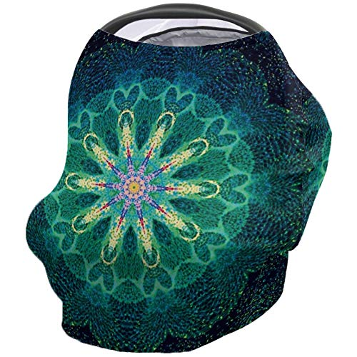 Read About Breastfeeding Nursing Cover Multi Use for Baby Car Seat Mandala Floral Pattern Abstract A...