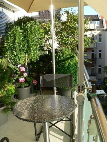 Holly® – 360 ° Support balcon – Soleil parapluie 5 – Compartiment Multi – Le support réglable à 360 ° – avec douille en acier inoxydable pour parasol de Ø 2–33 mm – Avec capuchons en caoutchouc pour fixation kratzfreien – à ou eckigen Éléments de 25 à 55 mm Ronds – Innovations fabriqué en Allemagne – Holly produits Stabielo® – Holly-Sunshade®