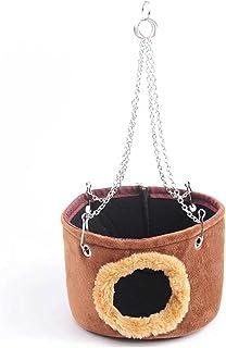 JJZXD Warm Bed Rat Hammock Squirrel Winter Pet Toy Hamster Cage House Hanging Nest Hamster nest