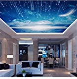 Tapete Fototapete Vlies Tapete 3D Tapeten 3D Fototapete Blauer Himmel Tapete Wandbild Decke Wohnzimmer Schlafzimmer Große Dach Dekoration Zimmer Tapete