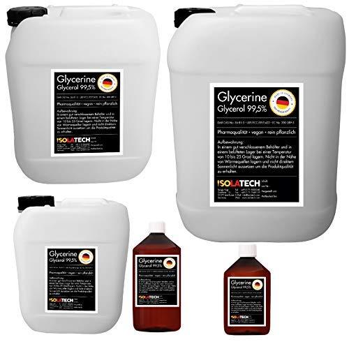 Glycérine 99,5% qualité pharmaceutique, qualité alimentaire E422, légume pur, végétalien, glycérine glycérol liquide transparent boîte Bouteille de 0,5 L (contenu 0,6 kg)