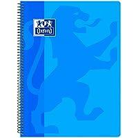 Oxford Classic - Cuaderno espiral, tapa plástico, cuadrícula 4x4, color azul turquesa