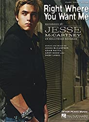Jesse McCartney - Right Where You Want Me - Sheet Music Arranged for Piano Vocal Guitar