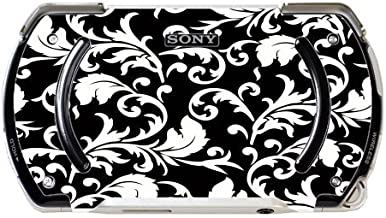 Black & White Abstract Floral Art PSP Go Vinyl Decal Sticker Skin by MWCustoms