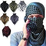 Shemagh Tactical Desert Military Head Scarf For Men Women Motorcycle Face Mask Biker Neck Gaiter Arab Wrap Summer Keffiyeh Cover Scarves (Blue)