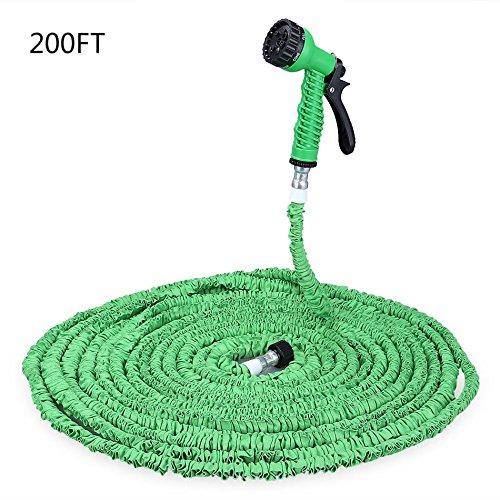 Verde/Azul 200M Magic ampliable Jardín Manguera de agua flexible 7modos Spray manguera para riego riego