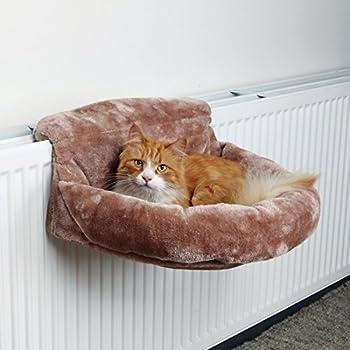 Peluche Sac pour radiateurs, en peluche, 46× 11× 33cm, marron,