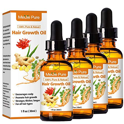 4 Pack Hair Growth Oil, Hair Growth Treatments for Men and...