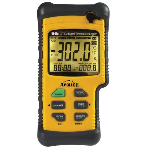 UEi Test Instruments DT302 Dual Input IP67 Digital Logging Thermometer