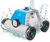 OT QOMOTOP Robot Pulitore da Piscina, Design senza Tubo, Ricaricabile, Tempo di Lavoro di 60-90...