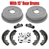 15' Drums Shoes Cylinders Springs for Chrysler Voyager 96-07 Front Wheel Drive