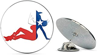 NYC Jewelers Left Facing Mudflap Cowgirl Texas Flag Shaped ic Metal 0.75