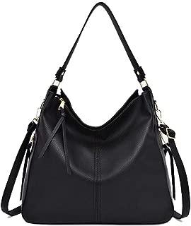 Large-Capacity Leather Tote Bag Zipper Handbag Shoulder Bag 2 ways Casual Top-handle Hobo Bag for Women