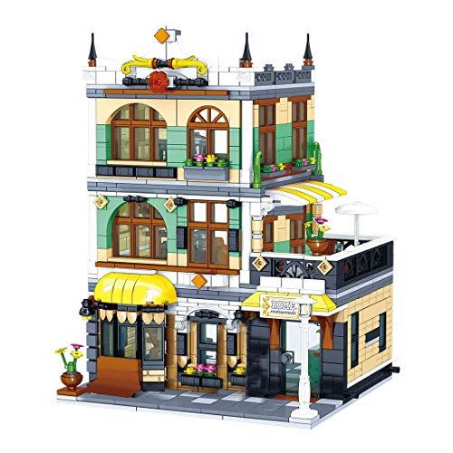 Bloques de construcción modulares de arquitectura de casa, 1186 Bloques de construcción con abrazadera Roma Restaurantes Set de construcción