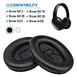 Bose Quiet Comfort 35 Replacemen Ear Cushions Kit by Link Dream Soft Protein Leather Replacement Ear Pad for Bose QC 35/25 / 15 QC2 / Ae2 / Ae2i / Ae2W / Sound Link/Sound True (Black)