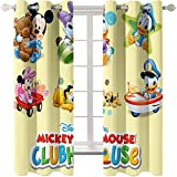 Ssghio Mickey Mouse Diseño Cortina Opaca con Ojales - Cortinas Aislantes Térmicas, Reducción de Ruido, Proteccion Intimidad para Hogar Ventanas Habitación Niño Salon 336 x 183cm