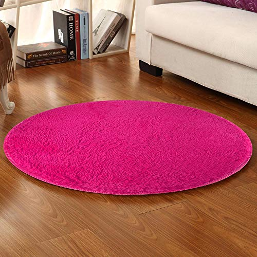 YWLINK Weich Coral Velvet Runder Teppiche Bettvorleger Sofa Matte Rutschfester FußMattenteppich Bad Wohnzimmer Teppich Einfarbig Schlafzimmer Wohnzimmer Pelzig Teppich