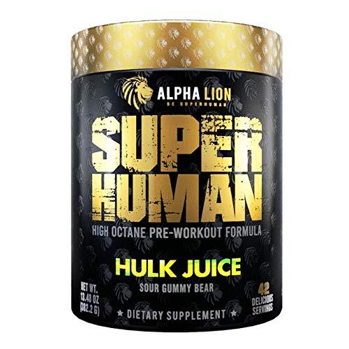 Superhuman Pre-Workout V2 Hulk Juice 21 Servings - Pre-Workout Alpha Lion