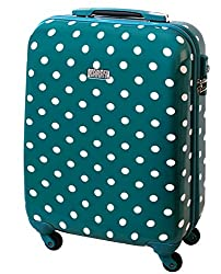 Karry Hard Shell Travel Suitcase Trolley 55 x 40 x 20 Carry-On 30 Liter Turquoise Dots 813 / 818