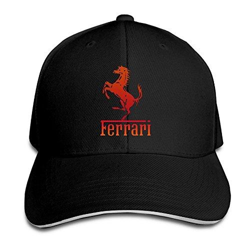 Yhsuk Ferrari Team Sandwich Peaked Hat/Cap Black