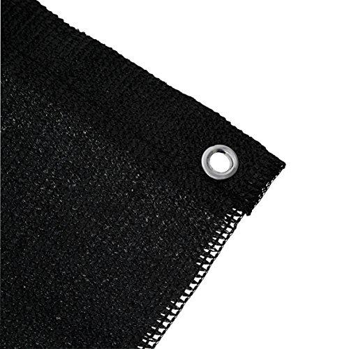 Ribelli® Balkon Sichtschutz Balkonsichtschutz Zaun Windschutz Balkonumspannung Verschiedene Größen und Farben Länge 6m (Farbe/Höhe) (Schwarz, 90)