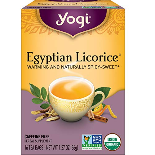 Yogi Tea - Egyptian Licorice (6 Pack) - Warming and Naturally Spicy Sweet - 96 Tea Bags