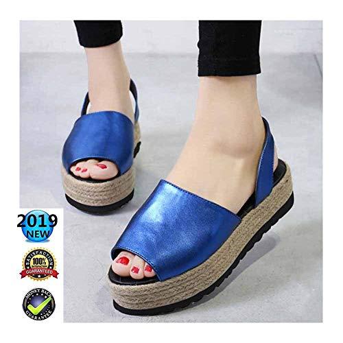 Sandals Peep Toe Plateau voor dames, met hoge hak en V-hakken, elegant en elegant