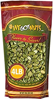 We Got Nuts Pumpkin Seeds Healthy Snacks 4 Lbs (64oz) Bag | Raw Pepitas No Preservatives Added, Non-GMO, 100% Natural With...