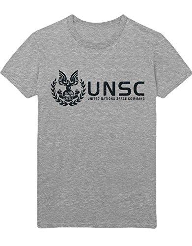 Hypeshirt T-Shirt Halo UNSC Z100059 Gris XL