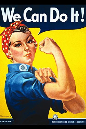 Rosie The Riveter We Can Do It Art Print Poster - 11x17 Fine Art Poster Print by J. Howard Miller, 11x17