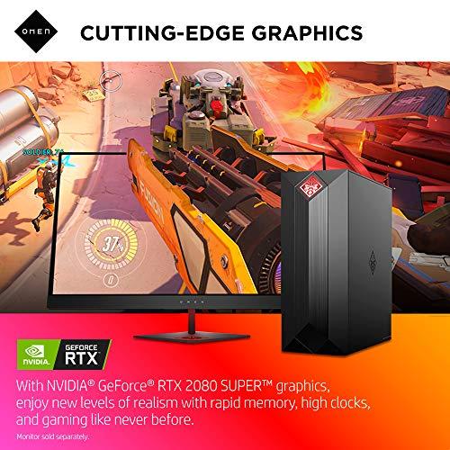 OMEN by HP Obelisk Gaming Desktop Computer, 9th Generation Intel Core i9-9900K Processor, NVIDIA GeForce RT   X 2080 SUPER 8 GB, HyperX 32 GB RAM, 1 TB SSD, VR Ready, Windows 10 Home (875-1023, Black)