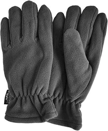 normani Thinsulate Herren Fleece Handschuhe mit Fleecefütterung - schön warm für kalte Tage Farbe Grau Größe XL