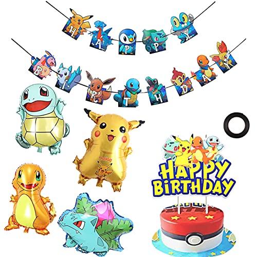 Palloncino di Alluminio, Palloncini Cartoni Animati Addobbi per Feste di Compleanno, Bambini Compleanno Feste Decorazione, Ideale Per Festa Di Compleanno Festa a Tema