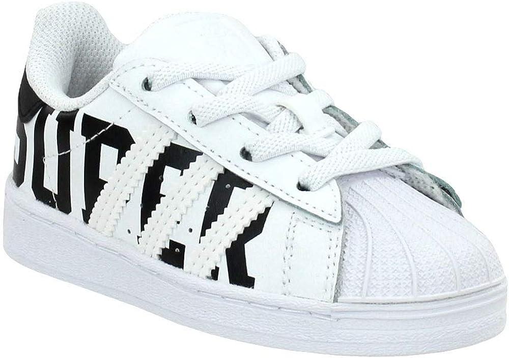 Amazon.com | adidas Toddler Boys Superstar El Lace Up Sneakers ...