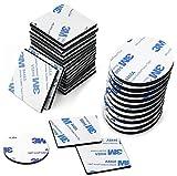 120 Piezas Pad Adhesivo, espuma adhesiva de Doble Cara Cinta Adhesiva Fuerte de Montaje, Cuadrado y Redondo (Negro)