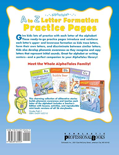 AlphaTales: A to Z Letter Formation Practice Pages: Fun-filled Reproducible Practice Pages That Help Young Learners…