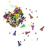 Oblique Unique® Konfetti Sterne Partyhüte Tisch Deko mit Spiegeleffekt für Geburtstag Kindergeburtstag Party Jubiläum Schuleinführung Fasching Karneval Dekoration Basteln über 300 STK. Bunt