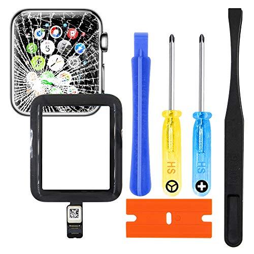 MMOBIEL Kit di Riparazione Vetro Lente digitizer Frontale di Ricambio incl connettore Compatibile con Apple Watch 2/3 38mm GPS Apple Watch 3 GPS Cellular Antenna Flex